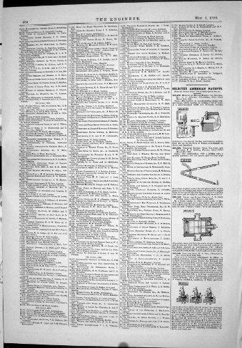 Vorgewählter Amerikaner Patentiert 1888 TechnikVentil-Dampf-Maschinen Werkzeug-Posten Ring