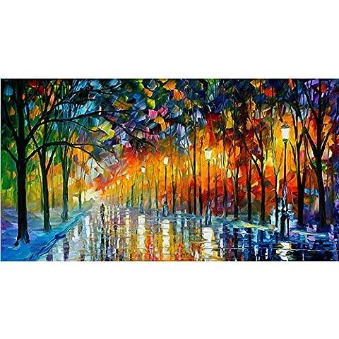 Van Eyck Walk sotto il lampione Colorful