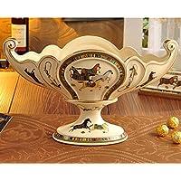 Piatto in ceramica/Ciotola di frutta decorativa tavolino casa europea