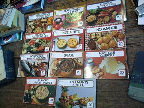 Cuisine de France Cuisine du monde Cuisine santé - Lot de 11 livrets collection toute la cuisine -