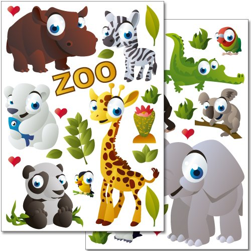 adesivi-da-parete-wandkings-animali-dello-zoo-set-adesivi-37-adesivi-su-2-fogli-din-a4