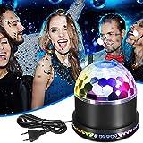 LED Discokugel, isimsus Discolicht Lampe 48LEDs Discolampe Partyleuchte Bühnenbeleuchtung RGB Lichteffekt mit Musik und Stimme Steuerung Deko für Partei, Geburtstagsfeier, DJ, Bar, Weihnachten