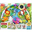 Playful Large Quilted Play Mat Rainforest Music & Lights Deluxe Gym - Packed With Activities That Can Provide Your Baby With Plenty Of Playtime Fun Throughout The Day