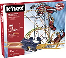 K'Nex Knex Thrill Rides Montaña Rusa Mecha Strike 540 Piezas Fábrica de Juguetes 41228.0