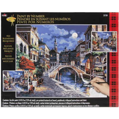 Bargain Paint By Number Kit 16″X20″-Venice At Night
