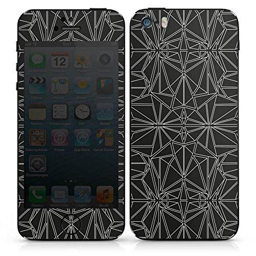 Apple iPhone SE Case Skin Sticker aus Vinyl-Folie Aufkleber Black and White Muster Retro DesignSkins® glänzend