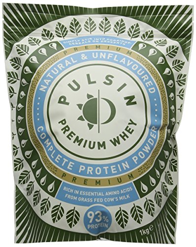 Pulsin' Unflavoured Whey Protein Powder, 1kg (Isolate)