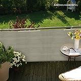 Videx PE-Balkonbespannung Classik, beige-grau, 90 x 300cm