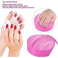 Digital Shoppy 1Pc Manicure Bowl Soak Finger Acrylic Tip Nail Soaker Treatment Remover for DIY Salon Nail Spa Bath Treatment Tools (Random Colour)