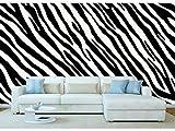 Papel Pintado Pared Estampado Piel Cebras Blaco y Negro | Fotomural para paredes | Mural | Papel Pintado | Varias Medidas 400 x 300 cm | Decoración comedores, salones, habitaciones...