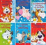 50 Geburtstagskarten Kinder Comic Grußkarten Glückwunschkarten zum Geburtstag Klappkarten mit 50 Umschlägen 51-3035