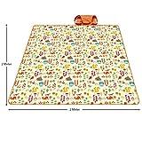 PREMYO Picknickdecke XXL 200x200 cm extra groß und wasserdicht. Fleece Picknickdecke. XXL Picknickdecke isoliert mit Tragegriff faltbar/gerollt ideal für den Strand, Park oder Camping