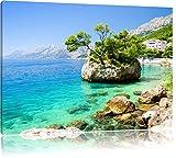 Wunderschöner Dalmatia Strand in Kroatien, Format: 60x40