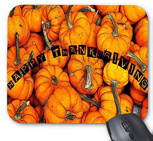 Happy Thanksgiving Letter - gefüllt mit Kürbis-Mauspad 9,84 x 11,8 Zoll