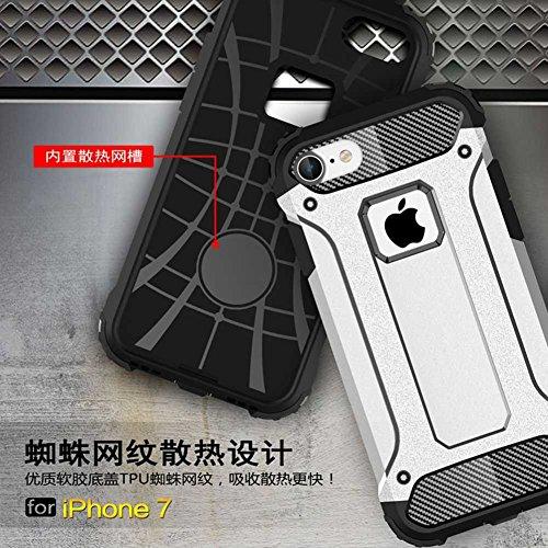 """iPhone 7 Coque, AOFad Case Anti - poussière Protection des lourds 2-à-1 gris TPU Avec 10 Colors Diamond Accessoires Série Pour Femme Homme 4.7"""" I099 AOFad B314"""