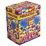 Fiesta Piruletas Caramelo con Palo en Forma de Corazón Pinta lenguas Sabor Mora - 80 Piezas