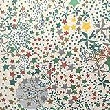 Staab's Beschichtete Baumwolle Sterne grün (Meterware,