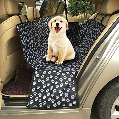 Hängematte Sitzbezug (WEIJIGUOJI Hund Auto Sitzbezug Pfotenmuster Wasserdicht Rückbank Schutz Hunde Autositz Reise Hängematte)
