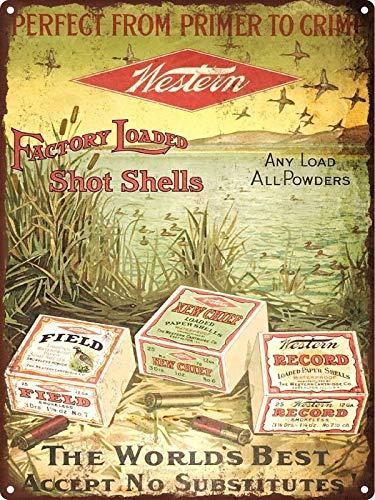 Rebecca Simpson 1920s Western Shot Shells Ammunition Hunting Metal Sign Repro 9x12