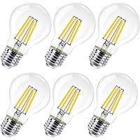 Lampadina LED E27, 8W (equivalenti a 80W), 800 lumen,Trasparente luce calda- Pacco da 6