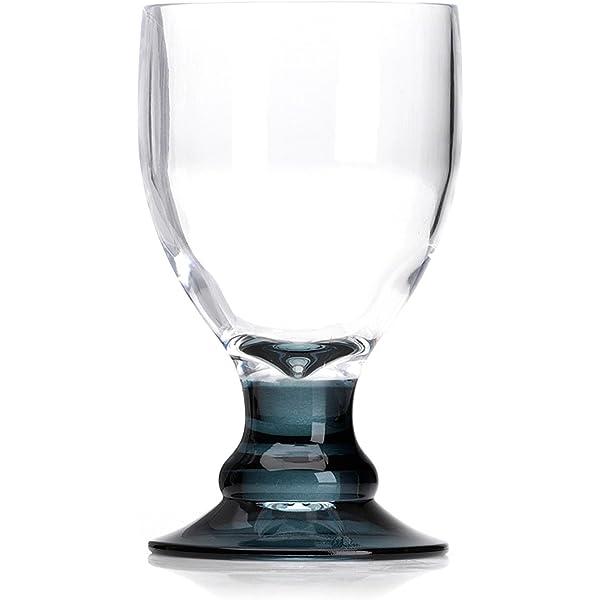 2 Flamefield Wine Glasses Break Resistant Polycarbonate 10oz 290ml