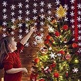 Dsaren Ghirlanda di Carta per Feste Decorazione Banner Appeso per Matrimonio Compleanno Natale Christmas Paper Garland Carta Fiocco di Neve Decor 2 Pack 9.8 Feet (118 Inches 300 cm) (Bianca)