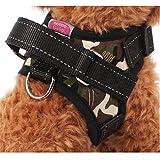 Gililai einstellbar Nein Pull Hundehalsband Harness - Beste für Spazierengehen , Wandern & Training Kanu - 3 Farben und 3 Größen(S,Tarnung)