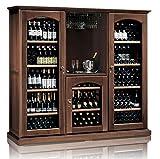 Ip Industrie - Mobile cantina climatizzata in legno massello 3 celle con capienza complessiva di 326 bottiglie