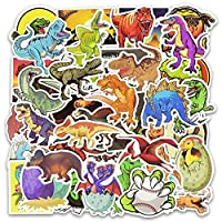 Yichener 50pcs/Pack Kawaii Cute Animal Dinosaur Stickers Waterproof Skateboard Suitcase Phone Laptop Funny Stickers Kids Classic Toys