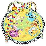 JYCRA Baby Crawling Mat, Neonato Multifunzione Fitness Rack Cartoon Morbido Tappetino da Gioco Rotondo Game Pad per 0–18Mesi Bambini Neonati