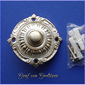 Geschenknet Antik Messing Klingel 1 Gründerzeit Klingelschild Klingelplatte K54A