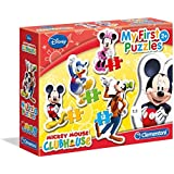 Clementoni - 20803 - Puzzle - My First - Mickey Mouse Club House - 3-6-9-12 Pièces