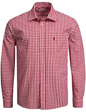Almsach Trachtenhemd Regular Fit in Rot
