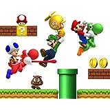 Super Mario Bros Herpositioneerbare Jongens Slaapkamer Muurstickers