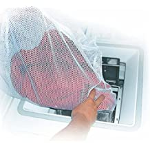 MSV MS165 - Saco para lavadora, 60 x 90 cm, poliéster, color blanco