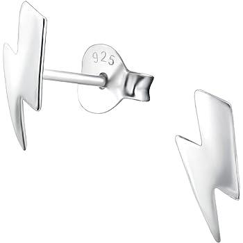 f9cfa6e1e Sterling Silver Lightning Bolt Earrings Gift: Amazon.co.uk: Jewellery