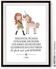 Einhorn Wild und Wunderbar – Kunstdruck ungerahmt, DIN A4