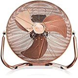 Brandson - Retro Windmaschine / Ventilator | Standventilator 30cm | hoher Luftdurchsatz | Tischventilator / Bodenventilator | im edlen Kupfer-Design