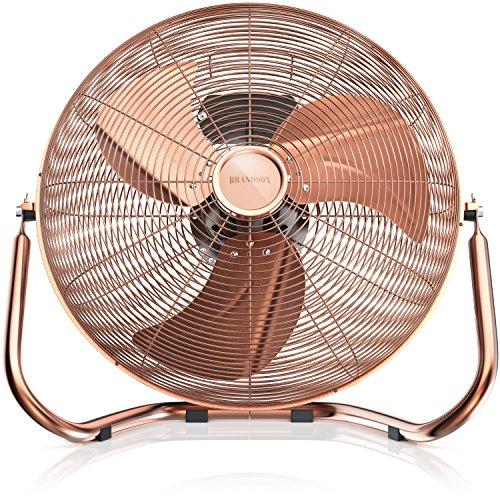 Brandson - Retro Windmaschine / Ventilator | Standventilator 35cm | hoher Luftdurchsatz | Tischventilator / Bodenventilator | im edlen Kupfer-Design (Retro-ventilator)