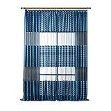 quanjucheer Sheer Streifen Trennwand Fenster Vorhang Home Schlafzimmer Decor, Polyester, blau, 100cm x 200cm