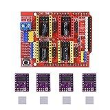 PoPprint CNC Schild Erweiterungs-Board V3.0 + UNO R3 Board für Arduino + drv8825 Schrittmotortreiber mit Heatsink-Kits für Arduino, 1
