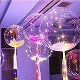 LOVEDIY Palloncini Colorati con Luce LED+La stringa di Luce di 3 Metri(3Pcs), per Feste, Matrimoni, Compleanni (multicolore-2PCS)