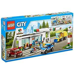 LEGO city Stazione di Servizio Costruzioni Gioco Bambina Giocattolo, Multicolore, 60132 5702015594936 LEGO