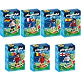 Playmobil Sports & Action 7pcs. set 6893 6894 6895 6896 6897 6898 6899 Football Players from: Germany, France, Italy, Spain, Belgium, England and Portugal