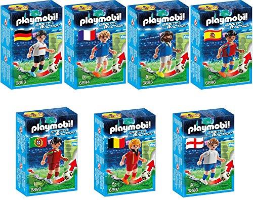 Preisvergleich Produktbild PLAYMOBIL® Sports & Action Fußball 7er Set 6893 6894 6895 6896 6897 6898 6899 Fußballspieler Deutschland, Frankreich, Italien, Spanien, Belgien, England & Portugal