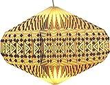 Guru-Shop Origami Design Papier Lampenschirm - Modell Ufo Weiß/grau, 22x47x47 cm, Papier Faltlampenschirme, Deckenlampe, Hängeleuchte