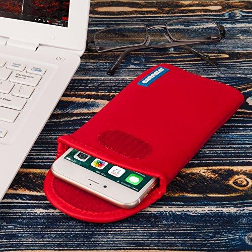 Caseflex Apple iPhone 5 / 5S / SE Tasche, Neoprene Beutel Hülle / Apple iPhone 5 / 5S / SE Pouch / Skin / Cover - Rot Rot