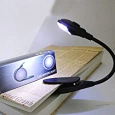 Climberty Reading Lights Mini Eye-Care LED Reading Light with Flexible Clip, Bright Reading Lamp in Bed and Portable Travel Book Light (Black)