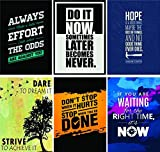 #7: Paper Plane Design Combo Pack of 6 Motivational Wall Posters and Inspirational Quotes for Office and Home