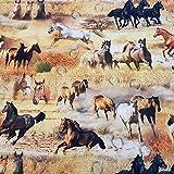 Werthers Stoffe Stoff Meterware Baumwolle Pferde Pferd